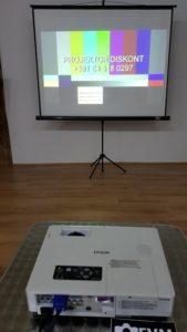 Epson emp 1810 test projekcija na platnu