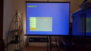 Test projekcije na platnu projektor Sony VPL CX120